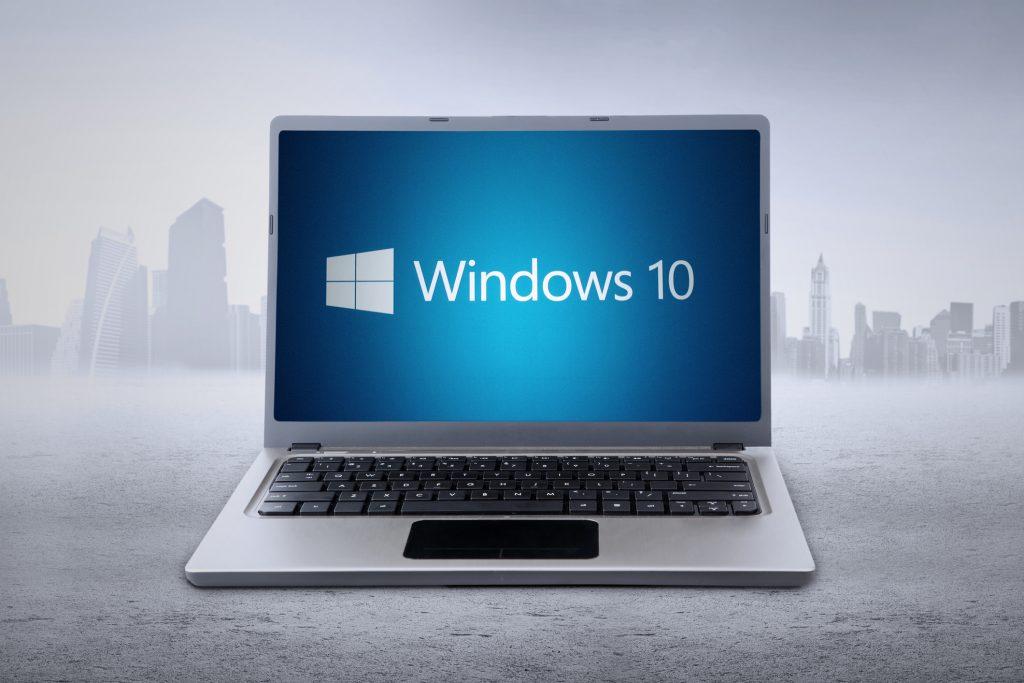 Laptop with Windows 10 logo